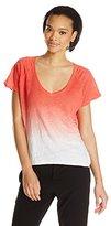 Velvet by Graham & Spencer Women's Ombre Linen Short Sleeve Top