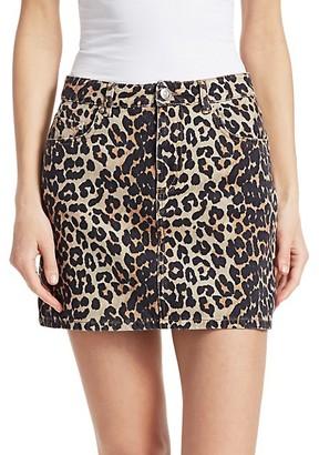 Ganni Print Denim Skirt