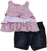 Buffalo 2 Piece Star Short Set (Baby) - Pastel Lavender-12 Months