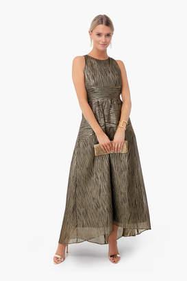 Tuckernuck Gold Metallic Jacquard Eden Dress