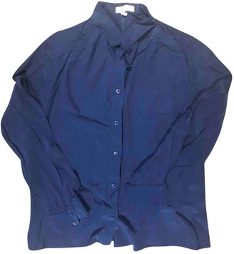 Celine Blue Silk Top for Women Vintage