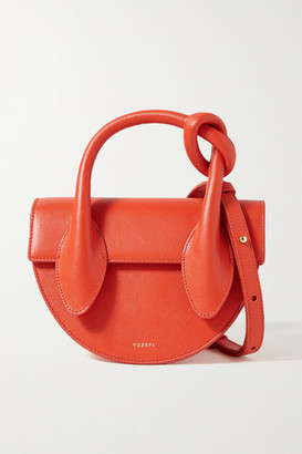 Yuzefi Dolores Mini Knotted Leather Tote - Bright orange