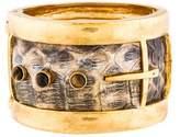 Kara Ross Snakeskin & Tiger's Eye Bracelet