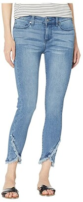 Liverpool Abby Crop Skinny Front Scallop Hem Jeans in Ibiza (Ibiza) Women's Jeans