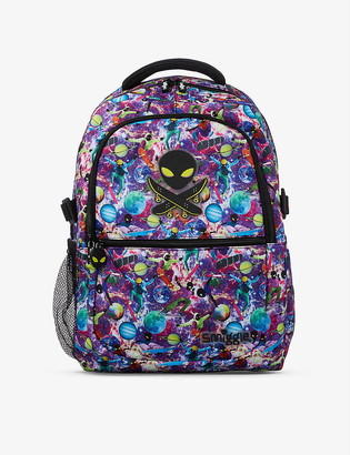 Smiggle Galaxy Attach space-print woven backpack
