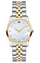 Movado Ladies Museum Classic Two-Tone Diamond Watch