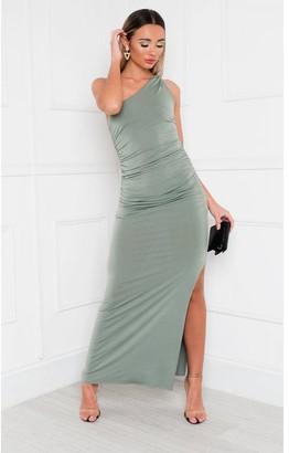 IKRUSH Naomi One Shoulder Bodycon Maxi Dress