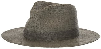 Rag & Bone Packable Straw Fedora (Army Green) Fedora Hats