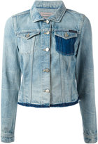 Calvin Klein Jeans raw hem denim jacket - women - Cotton - L