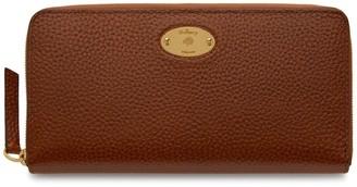 Mulberry Plaque 8 Credit Card Zip Purse Oak Natural Grain Leather