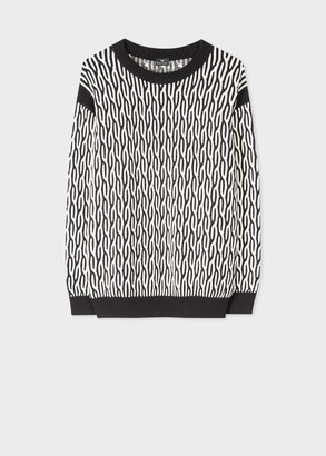 Paul Smith Women's Two Colour Cable Stitch Cotton Sweater