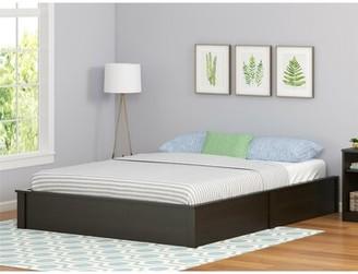 Mikel Platform Bed Viv + Rae Size: Full/Double, Bed Frame Color: Black Oak