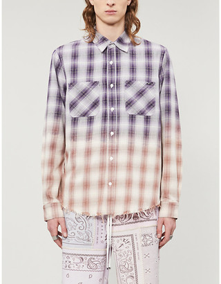Amiri Checked ombre cotton shirt