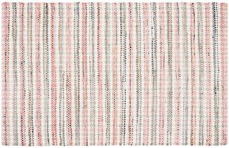 "One Kings Lane Locklyn Flat-Weave Rug - Pink - 2'3""x8'"