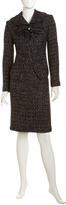 Lafayette 148 New York Tweed Pencil Skirt, Black/Multicolor