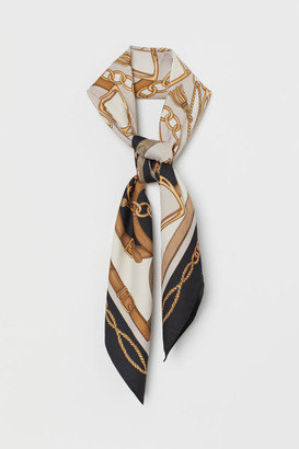 H&M Patterned Satin Scarf - Gray