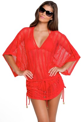 Luli Fama Women's Pasion Y Arena V-Neck Dress Cover-Up Luli Red Cover Up LG