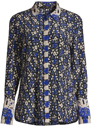 Kobi Halperin Marla Printed Silk Blouse