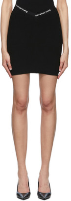 Alexander Wang Black Logo Trim Bodycon Miniskirt