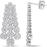 Julie Leah 3 CT TW Diamond Dangle Link Earrings in 18k White Gold