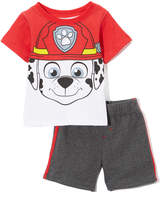 Children's Apparel Network PAW Patrol Red Nick Tee & Gray Shorts - Infant