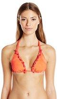 Lucky Brand Women's Vacation Vibe Dyed Triangle Bikini Top