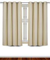 Utopia Bedding Blackout Room Darkening Curtains Window Panel Drapes- (Beige) 2 Panel Set-52x63 Inch