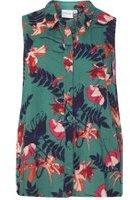 Dorothy Perkins Womens **Juna Rose Curve Green Floral Print Shirt- Green