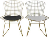 Pangea Set Of 2 Gold Shuttle Dining Chairs