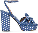 Tabitha Simmons Jodie polka dot print sandals - women - Cotton/Leather - 36