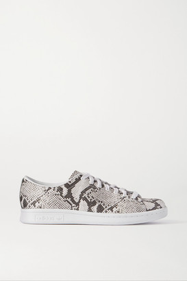 adidas + Hyke Aoh-001 Snake-effect Leather Sneakers - White