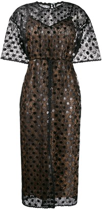 Marco De Vincenzo Sheer Polka Dot Dress