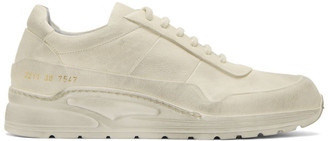 Common Projects White Leather Cross Trainer Sneakers