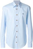 Vivienne Westwood embroidered logo shirt - men - Cotton/Spandex/Elastane - 46