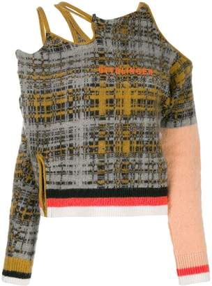 Ottolinger cutout checked jumper