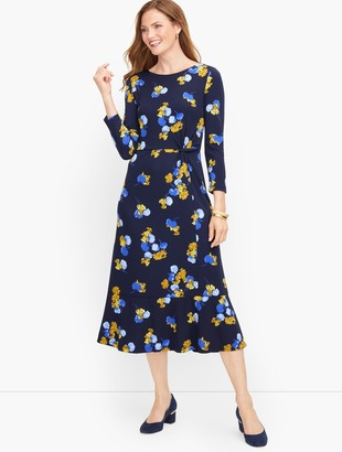 Talbots Jersey Twist Midi Dress