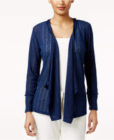 Style&Co. Style & Co Petite Drape-Front Cozy Knit Cardigan, Only at Macy's