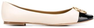 Tory Burch Chelsea cap-toe ballerinas