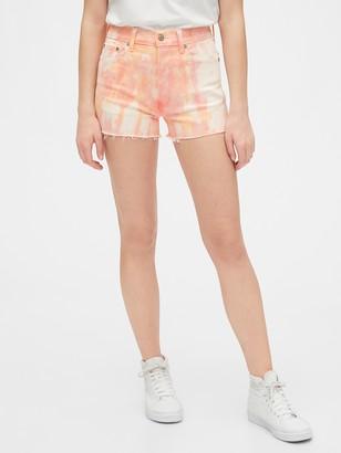 "Gap 4"" High Rise Tie-Dye Cheeky Shorts"