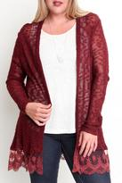 Umgee USA Lace Trim Cardigan