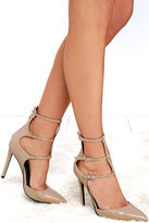 KENDALL + KYLIE Alisha Light Natural Leather Pointed Pumps