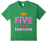 Kids Cute 5th Birthday T-Shirt For Girls Princess Crown Five Gift