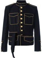Balmain tied-waist military jacket - men - Cotton/Polyester/Cupro/Rayon - 46