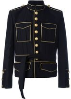 Balmain tied-waist military jacket