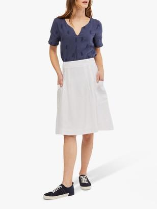 White Stuff Charlie Linen Skirt, White