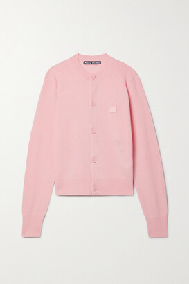 Acne Studios - Appliqued Wool Cardigan - Pink