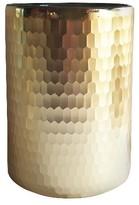 "Threshold Faceted Hurricane Vase 8"" Gold"