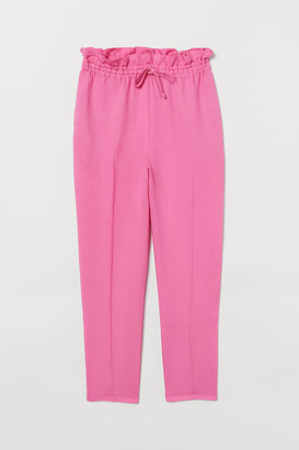 H&M Linen-blend Pull-on Pants - Pink