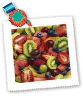 3dRose LLC qs_33156_10 Florene Food and Beverage - Fruit Salad - Quilt Squares