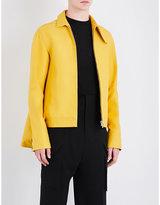 Rick Owens Button-collar Cotton Jacket